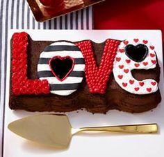 L-O-V-E Cake Decoration