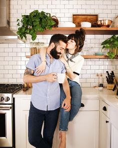 6 Albums That Shaped Our Relationship - New Darlings Minimal Kitchen Design, Minimalist Kitchen, Couple Posing, Couple Shoot, Posing Couples, Lifestyle Photography, Couple Photography, Lifestyle Blog, Wedding Photography