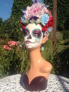 RESERVED for M Dia de los Muertos day of the dead por DarlinDesign
