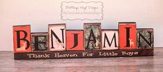 Camo Name blocks. Im going to try and make these for Andreis' room makeover