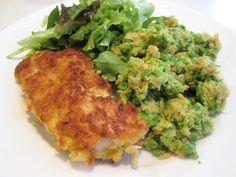 En verden af smag!: Schnitzel med Ærtehummus og Salat