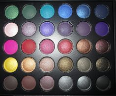 The 'Night' side of my BH Day & Night Eyeshadow Palette. I love the two colours in the 3rd row to the far right. Gorgeous Autumnal eye shadows.