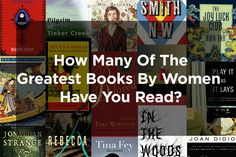 How Many Of The Greatest Books By Women Have You Read? Even more books to read!