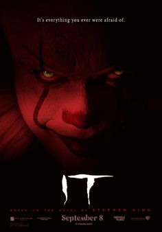 In a small town in Maine, seven children known as The Losers Club come face to face with life problems, bullies and a monster that takes the shape of a clown called Pennywise. Horror Movie Posters, Horror Movies, Horror Books, Pennywise Film, Pennywise The Clown, Scary Movies, New Movies, Movies Online, Bill Hader