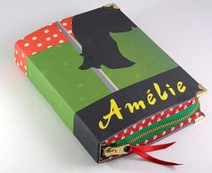 Amelie Book Clutch Green and Red by psBesitos on Etsy
