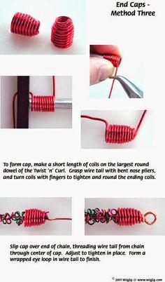 How to make wire end caps- III |Gunadesign Handmade Design Barn