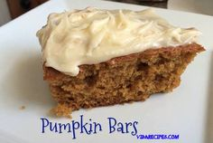 Pumpkin bars done right from scratch with buttercream icing! These are pure heaven, they are that delicious!