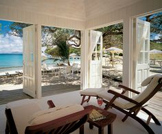 Cotton House Mustique, Grenadine. I'm in one chair, my BF BC in the other. Perfection ;-)
