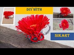 DIY/How to convert rolls of cardboard into floral mug - cana cu floare din rola de carton Foto Frame, Hello Everyone, Wrapping, Rolls, Make It Yourself, Mugs, Box, Youtube, Handmade