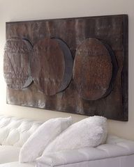 Bronze Triple Circle Wall Decor
