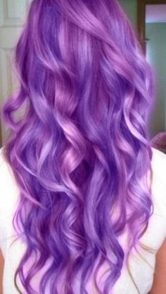 Purple mermaid hair. Would be fun...for a day or two.
