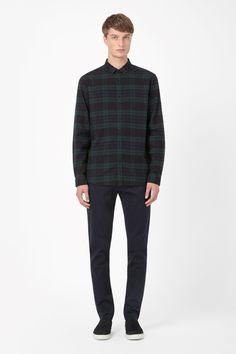COS | Checked cotton shirt