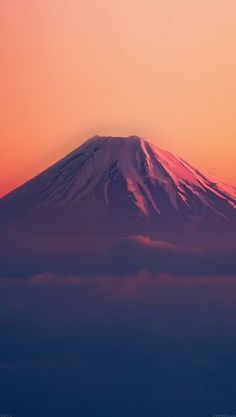 papers.co-ad53-fuji-red-mountain-alone-4-wallpaper