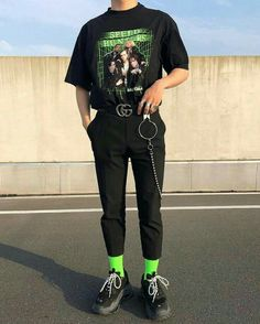 Rate this outfit . Edgy Outfits, Retro Outfits, Fashion Outfits, Fresh Outfits, Soft Grunge Outfits, Streetwear Men, Streetwear Fashion, Streetwear Clothing, Mens Grunge Fashion