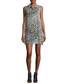 Cheetah b black dress neiman