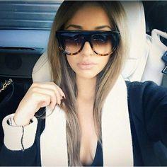 f8c4365c69d8 WOWSUN Fashion Ladies Oversized Oval Sunglasses Women Vintage Luxury Brand  Designer Big Frame Oculos UV400. Celine Shadow ...