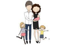 Family portrait illustration by Blanka Biernat