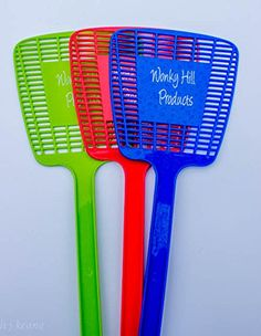 Wonky Hill Pack of 3 Fly Swatter Manual Swat Pest Control ** Check out the image by visiting the link.