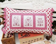 """""""Village Shops"""" designed by Sally Giblin for The Rivendale Collection."""