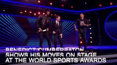 Sherlock actor Benedict Cumberbatch showed his dancing moves on stage at the Laureus 2018 World Sports Awards held in Monaco.