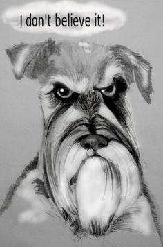 I Don't Believe It, VictorThe Dog, pencil drawing reworked with GIMP photo editing software, Gareth Pritchard, digital art.