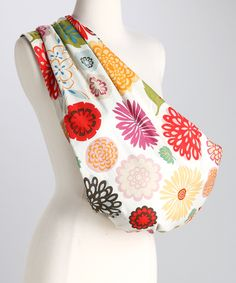 Brown Zinnia Reversible #Sling by Lucky Baby on #zulily