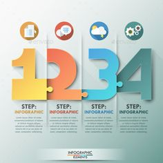 Modern Infographic Puzzle Template #design Download: http://graphicriver.net/item/modern-infographic-puzzle-template/11478453?ref=ksioks