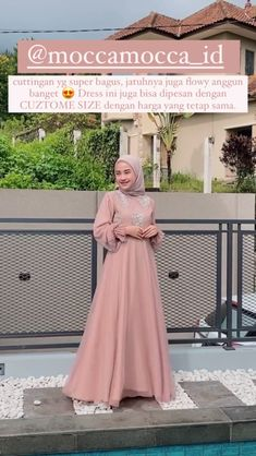 Dress Brukat, Hijab Dress Party, Kebaya Dress, Dress Outfits, Modesty Fashion, Muslim Fashion, Hijab Fashion, Dress Muslim Modern, Muslim Dress