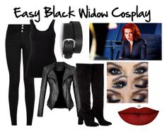 """Easy Black Widow Cosplay"" by moose-notmoose-clarence on Polyvore featuring Isabel Marant, Theory, Anouki and Anastasia Beverly Hills"