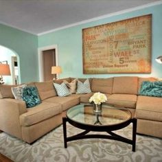 Delightful Teal And Tan Living Room And Living Room Teal On Pinterest Teal Sofa Teal  Couch And