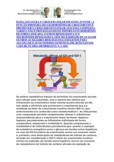 Crescer Linear Infanto Juvenil-GH; não ocorre Isoladamente,Alcance do Alvo Genético é Complexo by VAN DER HAAGEN via slideshare