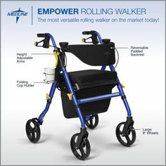 Costco: Empower Rolling Walker by Medline®