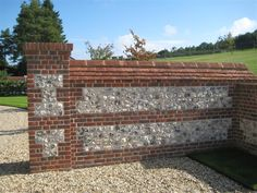 Flint Blocks Suppliers - All Brick & Stone Garden Railings, Garden Gates And Fencing, Gate Wall Design, Fence Design, Stone Uk, Brick And Stone, Brick Wall Gardens, House Designs Ireland, Brick Art