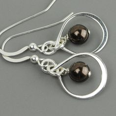 5 pairs of bridesmaid earrings - chocolate brown swarovski pearl with silver infinity link.  Matching necklace on my other boards!  SET OF 5 Bridesmaid Earrings, Brown Swarovski Pearl Drop Earrings - Sterling Silver Infinity Earrings - Bridesmaid Gift - Wedding - $114 -