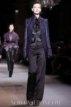 Haider Ackermann -- a/w 2012 __ Layers of fabric with sheen