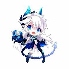 Anima Games, Lu Elsword, Dragon Bleu, Character Inspiration, Character Design, Monster Design, Anime Chibi, Fantasy Art, Kawaii