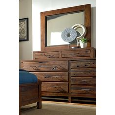 Progressive Navigator Jewelry Box Mirror and Dresser Set