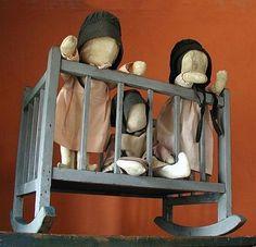 Early Amish Dolls.