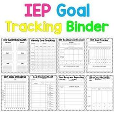 IEP Goal Tracking Binder- Data Collection for Special Education {Data Sheets} Special Education Organization, Teaching Special Education, School Organization, Education College, Higher Education, Binder Organization, Continuing Education, Elementary Education, Childhood Education