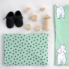 PYRY, Green - Mocha | New NOSH fabric collection for Winter 2016! Get inspired from polar bears and pastel colors. Shop this new fabric collection at en.nosh.fi