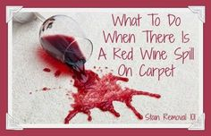 What to do when there's a red wine spill on carpet, with multiple methods for removal {on Stain Removal 101}