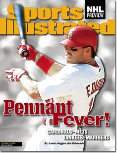 Jim Edmonds on cover of Sports Illustrated October 16, 2000