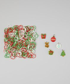 Take a look at this Red & Green Christmas Loom Band & Charm Set by Picki Nicki on #zulily today!