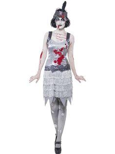 Women's Zombie Flapper Dress Costume