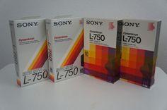 4 Blank Sony L-750 SD Beta Betamax Dynamicron Video Cassette Tape New & Sealed  #Sony