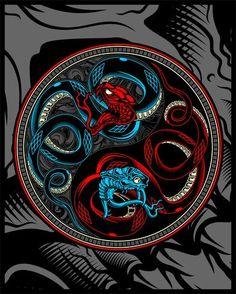 serpente gêmea, cobra ying yang vector mão desenho Vector Hand, Vector Free, Ying Yang, Golden Snake, Cobra, Clipart, Art Drawings, How To Draw Hands, Twin