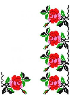FL234 Cross Stitch Borders, Cross Stitch Rose, Cross Stitch Flowers, Cross Stitch Designs, Cross Stitch Patterns, Christmas Cross, Art Drawings, Diy And Crafts, Projects To Try