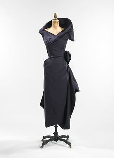 Cocktail dress (image 1) | Charles James | American | 1952 | silk | Brooklyn Museum Costume Collection at The Metropolitan Museum of Art | Accession Number: 2009.300.409