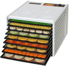 The Excalibur 9 Tray Food Dehydrator dries fruit, vegetables, and wholesome living foods while preserving their nutrients and enzymes. With its convenient timer, the Excalibur is easy to use and produces consistently delicious results. Best Food Dehydrator, Dehydrator Recipes, Raw Food Recipes, Diet Recipes, Juice Recipes, Food Dryer, Excalibur Dehydrator, Just In Case, Just For You