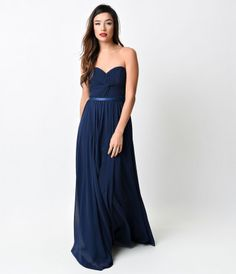 This simple, elegant chiffon gown features a tightly ruched bodice, satin waist band and lace up corset back. This dress...Price - $88.00-PUZIiOOT